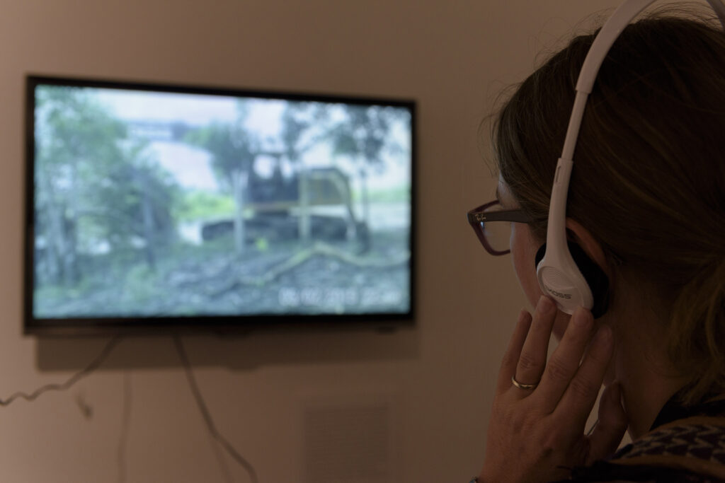 Dead Water, image of video footage during exhibition by participant Maria Rosa Pessoa Piedade during physical exhibition