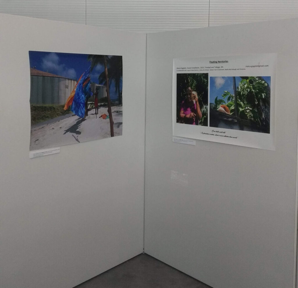 Image of Maica Gugolati's work in Port of Spain, Belmont, private show. 1st-7th August 2019. Trinidad and Tobago (WI). Digital photoprints on commercial waterproof material for advertisement; Printed in TT.