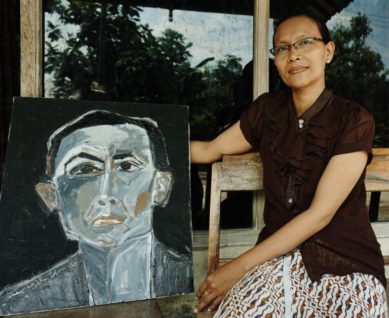 GUNARTI (2016) Artist: Dewi Candraningrum Media: Acrylic on 50x60cm canvas